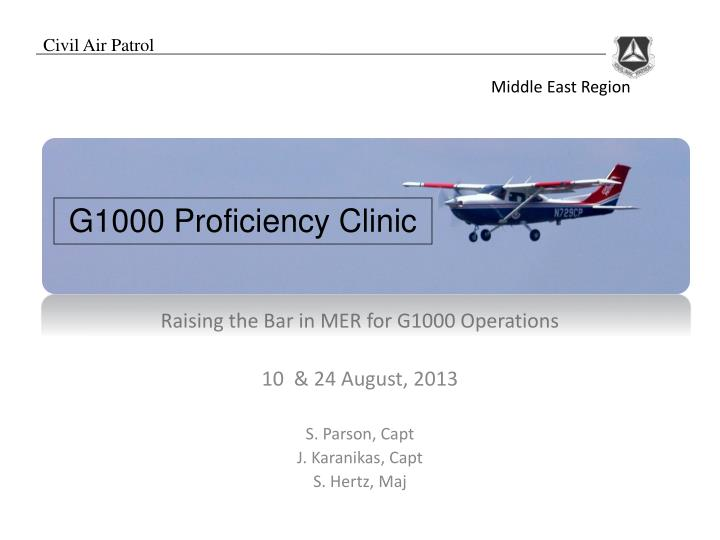 G1000 Proficiency Clinic