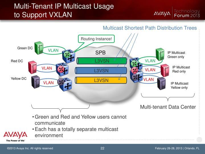 Multi-Tenant IP Multicast Usage