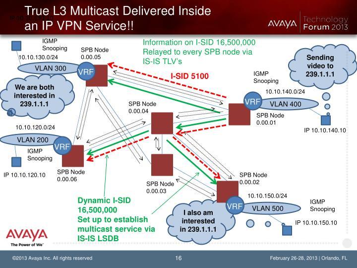 True L3 Multicast Delivered Inside an IP VPN Service!!