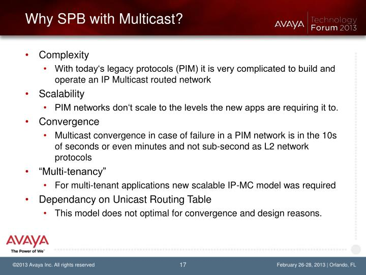 Why SPB with Multicast?