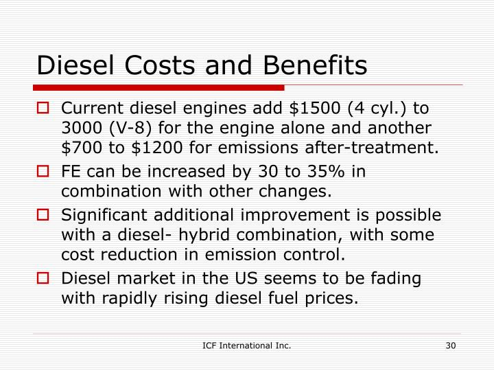 Diesel Costs and Benefits