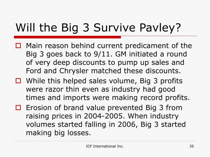 Will the Big 3 Survive Pavley?