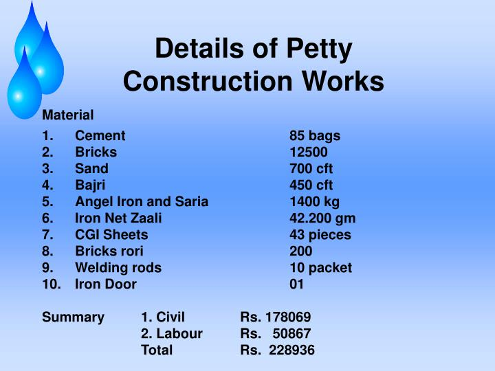 Details of Petty
