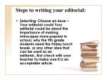 steps to writing your editorial