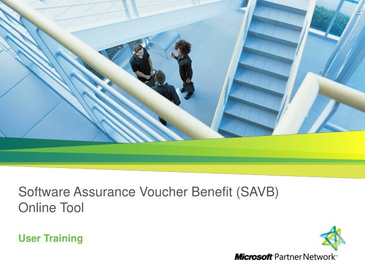 Software assurance voucher benefit savb online tool