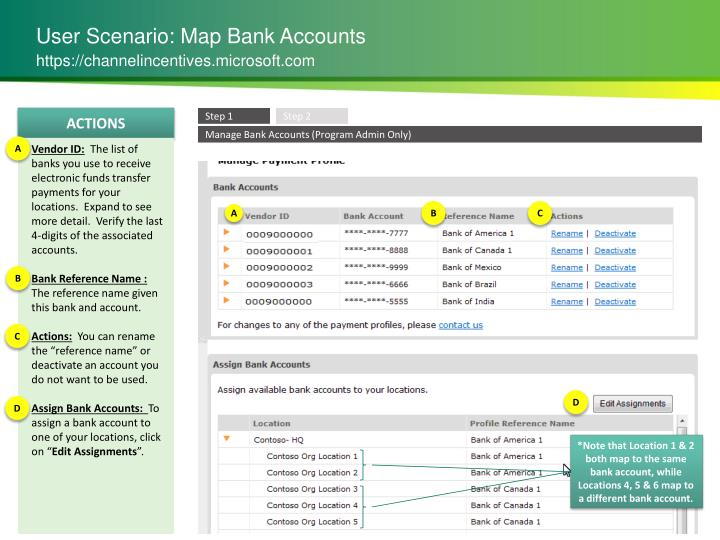 User Scenario: Map Bank Accounts