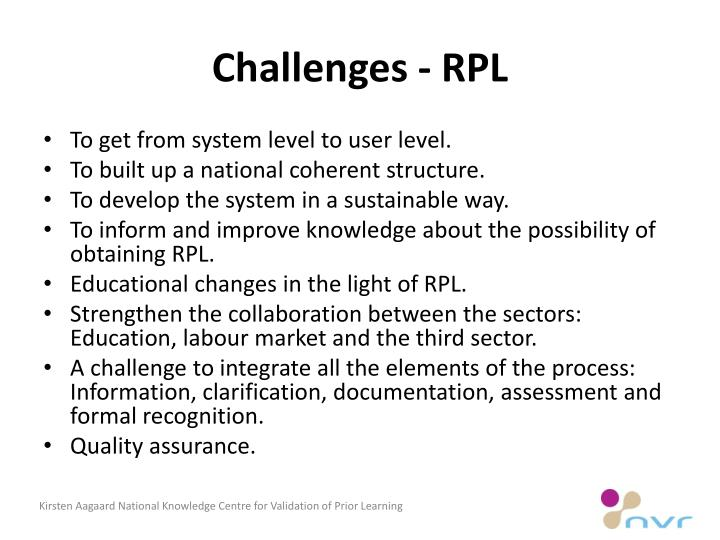 Challenges - RPL