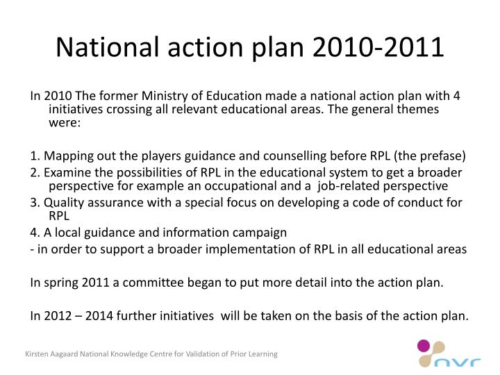National action plan 2010-2011