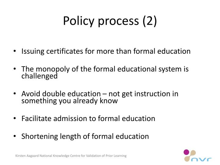 Policy process (2)