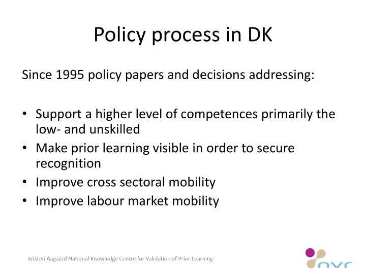 Policy process in DK
