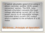 dc drives principle of operation