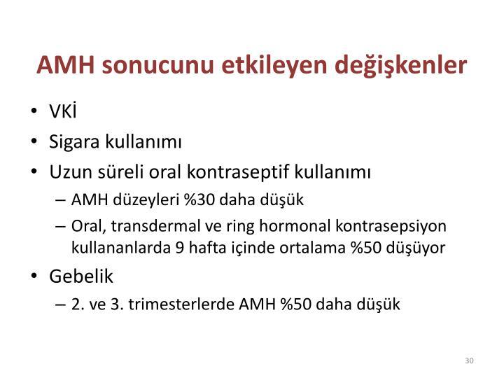 AMH sonucunu etkileyen değişkenler