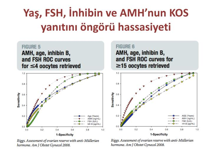 Yaş, FSH, İnhibin ve AMH