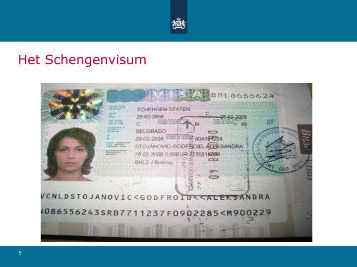 Het Schengenvisum