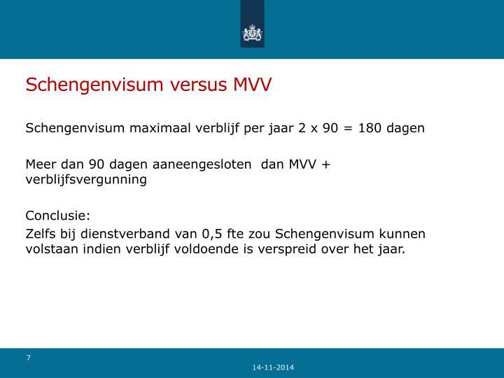 Schengenvisum versus MVV