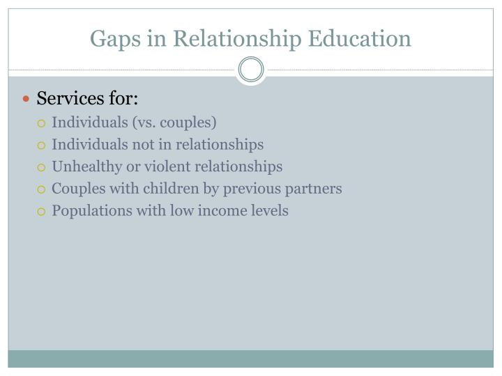 Gaps in Relationship Education