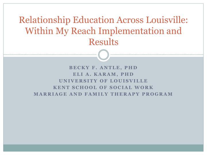 Relationship Education Across Louisville: