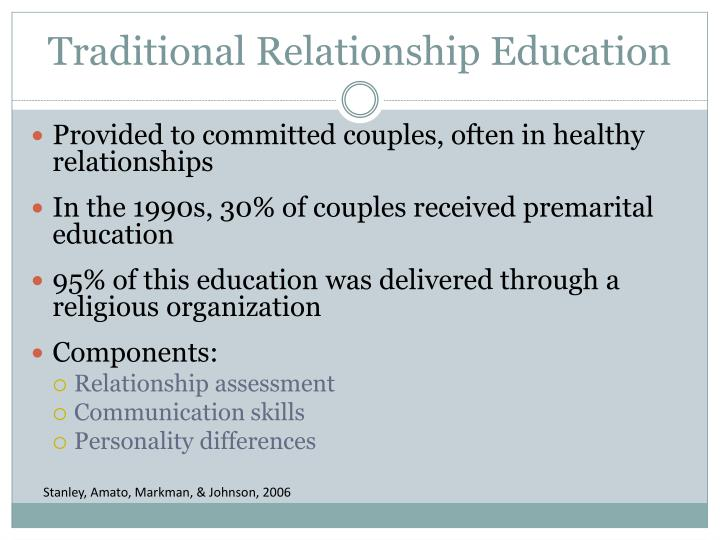 Traditional relationship education