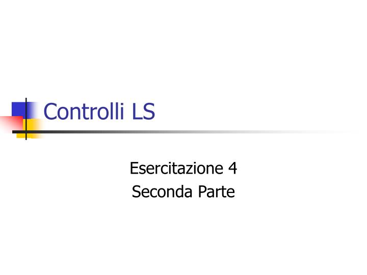 Controlli LS