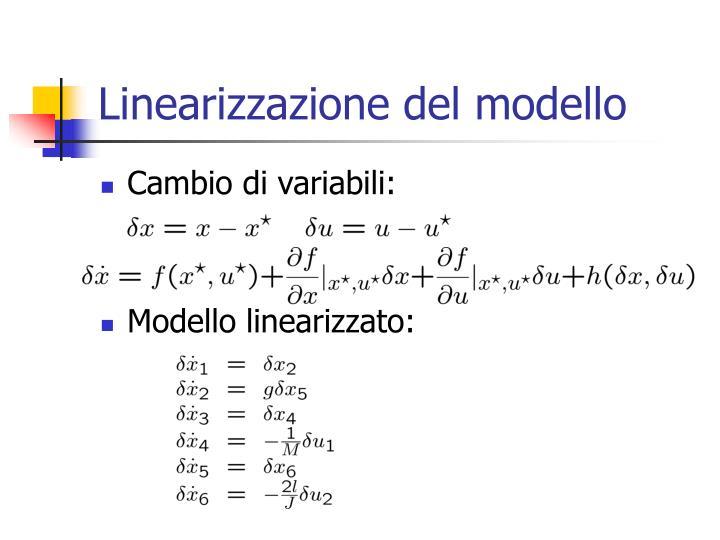 Linearizzazione del modello