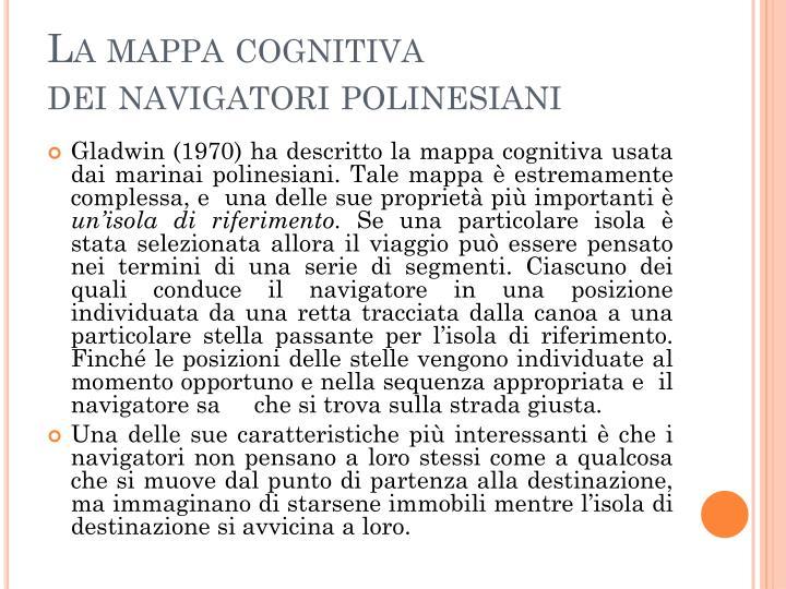 La mappa cognitiva