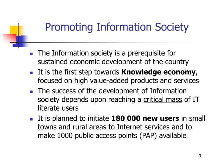 Promoting information society
