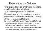 expenditure on children