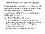 home production of child quality