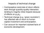 impacts of technical change