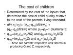 the cost of children