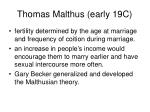 thomas malthus early 19c