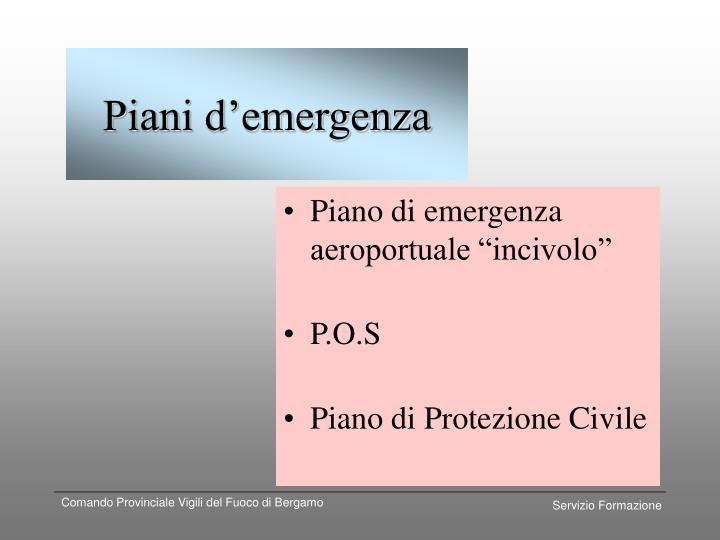 Piani d emergenza