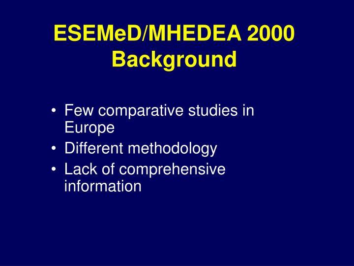 ESEMeD/MHEDEA 2000