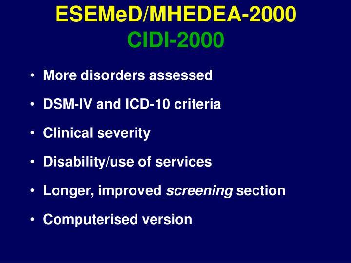 ESEMeD/MHEDEA-2000