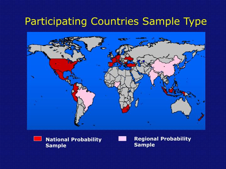 Participating Countries Sample Type