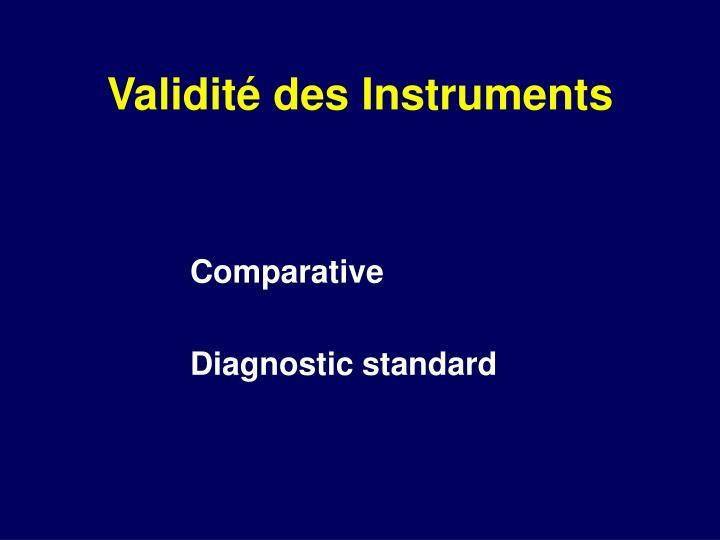 Validité des Instruments