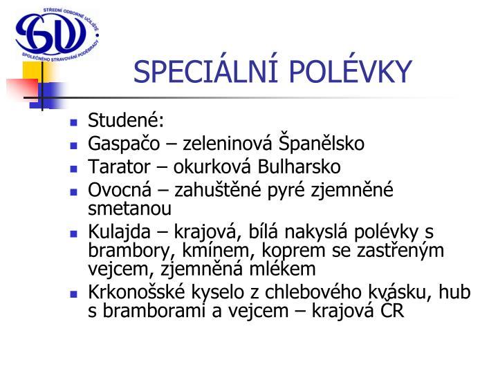 SPECIÁLNÍ POLÉVKY