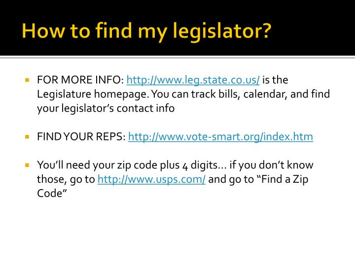 How to find my legislator?