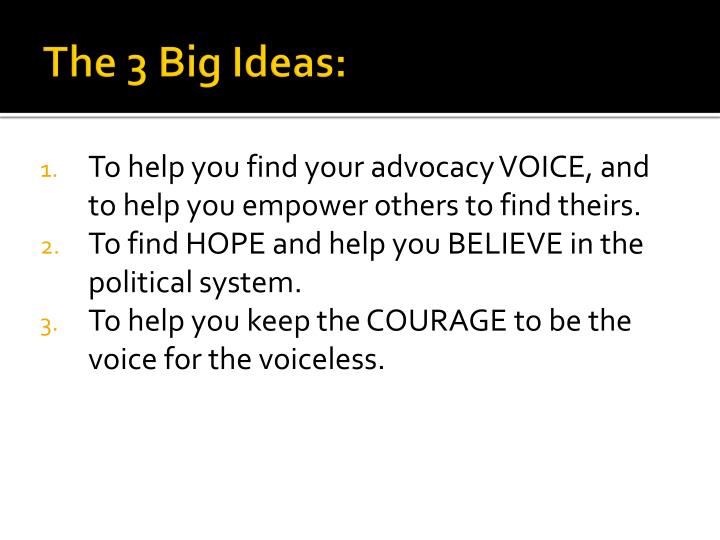 The 3 Big Ideas: