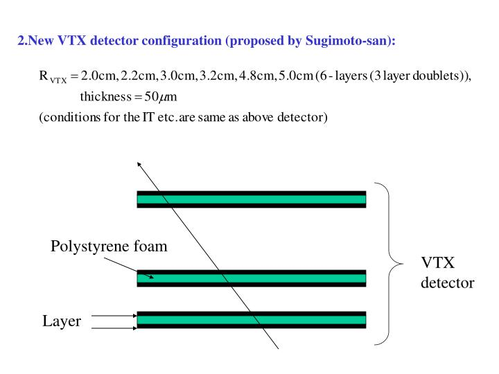 2.New VTX detector configuration (proposed by Sugimoto-san):