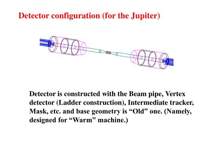 Detector configuration (for the Jupiter)