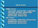 item pool