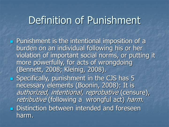 Definition of Punishment