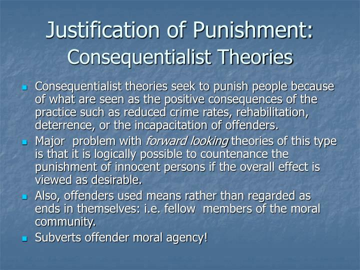 Justification of Punishment: