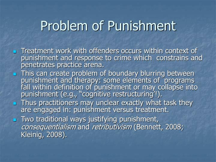 Problem of Punishment