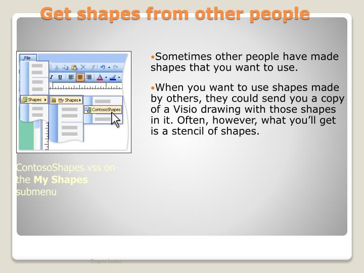 Get shapes from other people