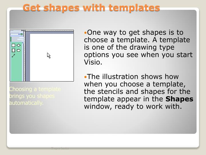 Get shapes with templates