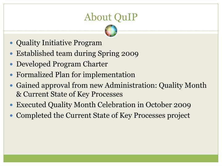 About quip