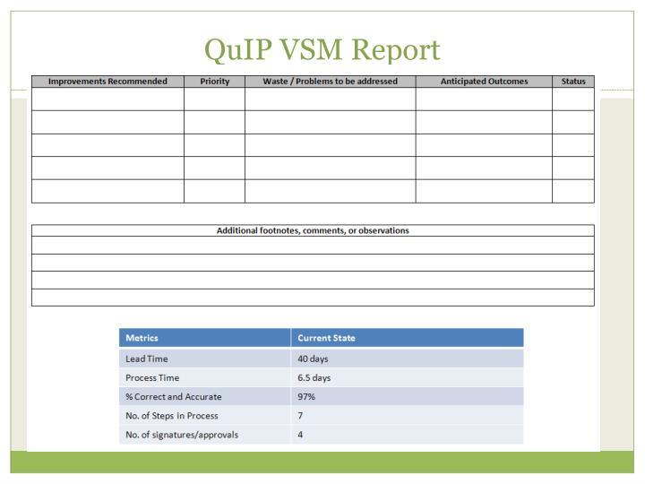 QuIP VSM Report