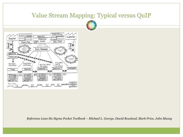 Value Stream Mapping: Typical versus QuIP